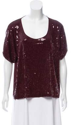Robert Rodriguez Sequin Short Sleeve Top