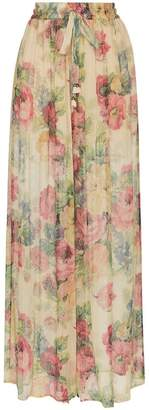 Zimmermann melody floral print silk trousers