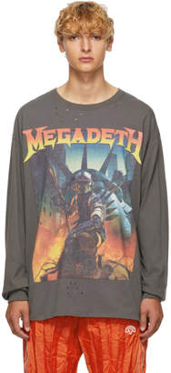 R 13 Black Megadeth Fatalbot Long Sleeve T-Shirt