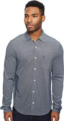 Original Penguin Men's Long Sleeve Knitted Oxford Shirt
