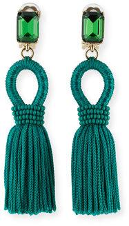 Oscar de la Renta Silk Tassel Drop Earrings $390 thestylecure.com