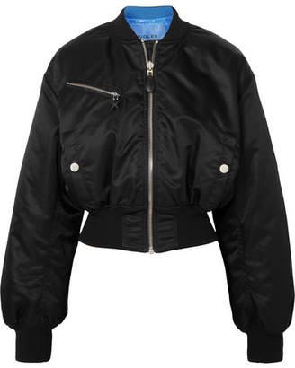 Thierry Mugler Shell Bomber Jacket - Black