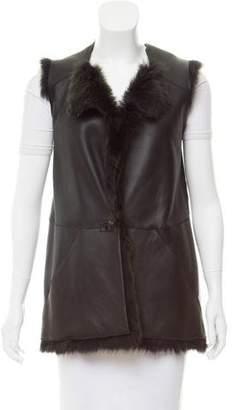 Zero Maria Cornejo Tailored Shearling Vest