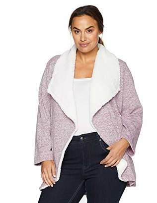 Arabella Women's Plus Size Sweater Fleck Draped Cardigan