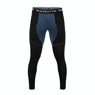 RADHYPE Men Polyester Compression Sport Pants Block Workout Leggings XXXL