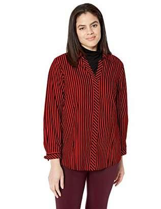 2bf876de5d8ee9 Foxcroft Plus Size Womens Taylor Non Iron Stripe Shirt