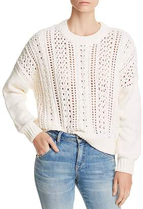 Aqua Cable-Knit Chenille Sweater - 100% Exclusive