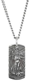 King Baby Studio American Voices Silver Liberty Dog Tag Necklace