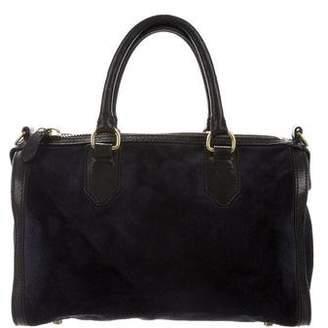 Steven Alan Leather-Trimmed Suede Satchel