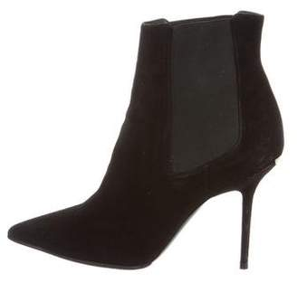 Burberry Suede Pointed-Toe Boots