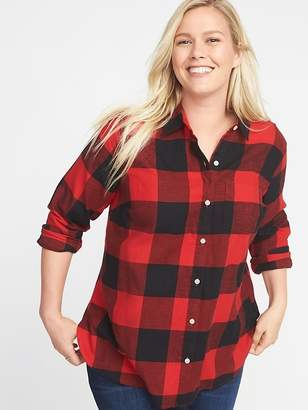 Old Navy Classic Plaid No-Peek Plus-Size Flannel Shirt