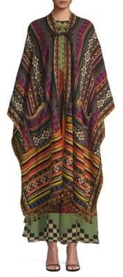 Etro Patterned Knit Cape