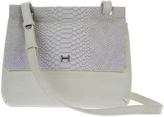 Halston H By H by Snake Embossed & Smooth Leather Crossbody Bag