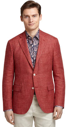 Brooks Brothers Rust Hopsack Blazer