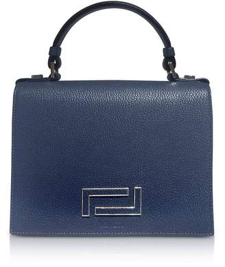 Lancel Pia Grained Leather Flap Satchel Bag