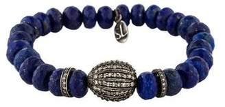 Lapis Sheryl Lowe Lazuli & Diamond Bead Bracelet