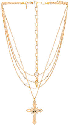 Vanessa Mooney Valeria Layered Cross Necklace