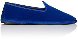 Larusmiani LARUSMIANI MEN'S MEN'S VELVET TAPERED-TOE SLIPPERS