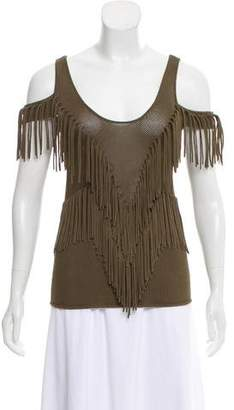 Ronny Kobo Fringed Knit Top w/ Tags