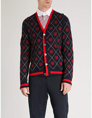 Gucci Tiger-intarsia wool cardigan