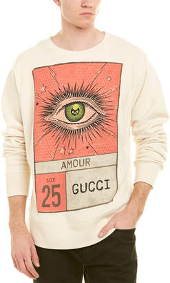 Gucci Eye Print Cotton Sweatshirt