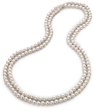 Majorica 8MM White Pearl Endless Strand Necklace/60