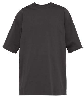 Rick Owens Crew Neck Short Sleeve Sweatshirt - Mens - Grey