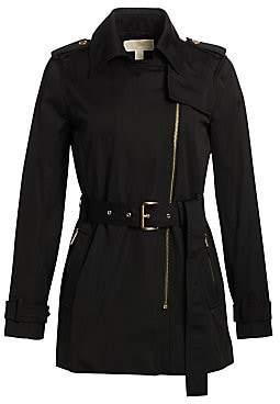 MICHAEL Michael Kors Women's Asymmetrical Zip Trench Coat