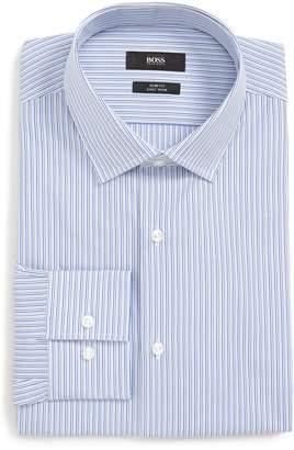 BOSS Jenno Slim Fit Easy Iron Stripe Dress Shirt