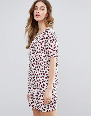 Vila Poppy Printed Shift Dress