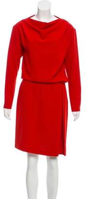 Cacharel Long Sleeve Midi Dress