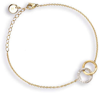 Marco Bicego Delicati 18K Round Link Bracelet with Diamonds