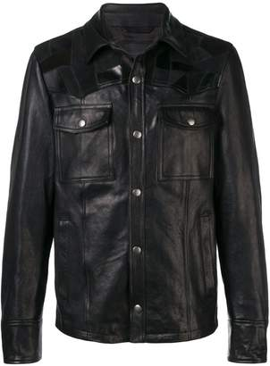Diesel Black Gold jacket in nappa leather with patchwork
