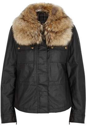 Belstaff Guildford Fur-trimmed Cotton Jacket