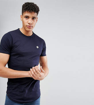 Le Breve Tall Raw Edge Longline T-Shirt