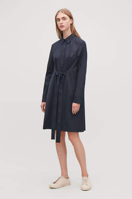 Cos SHIRT DRESS WITH FRONT TIE