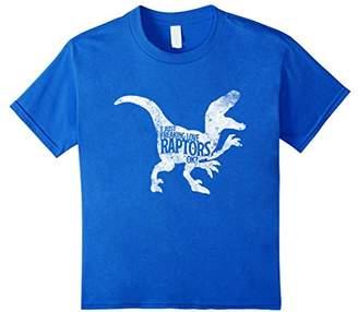 Just Freaking Love Raptors Funny Distressed Cute Dino Shirt