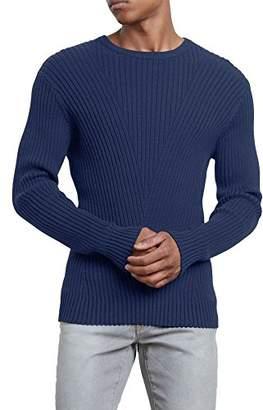 Kenneth Cole New York Men's Engineered Rib Crew Sweater