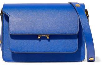 Marni Trunk Medium Textured-leather Shoulder Bag - Cobalt blue