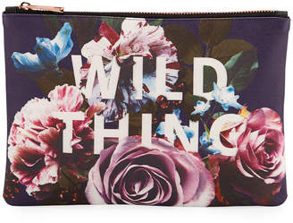 Studio Oh Wild Thing Zip Pouch, Large