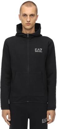Emporio Armani Ea7 Zip-up Cotton Blend Sweatshirt Hoodie