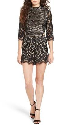 Women's Love, Fire Cutout Back Lace Romper $59 thestylecure.com