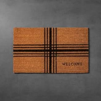 "Hearth & Hand with Magnolia Plaid Coir Doormat (18""x30"")"