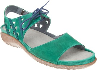 Naot Footwear Leather Lace Up Sandals - Mangere