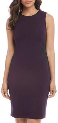 Karen Kane Faux-Leather Side-Panel Dress