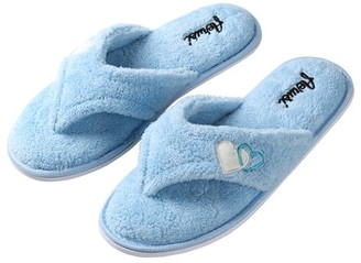 SUMACLIFE Sumaclife Women'S Cozy Heart Soft Plush Thong Slippers With No-Slip Rubber Sole