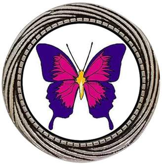 GiftJewelryShop Ancient Style Silver Plate Beautiful Lovely Butterfly Winding Pattern Pins Brooch
