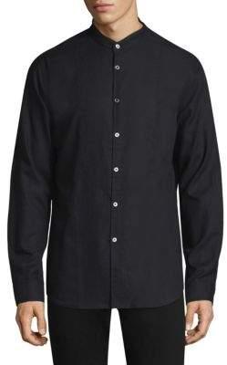 John Varvatos Classic Slim-Fit Cotton Button-Down Shirt