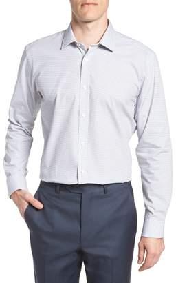 Ted Baker Rosprim Trim Fit Geometric Dress Shirt