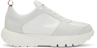 Thom Browne White Raised Tech Running Sneakers